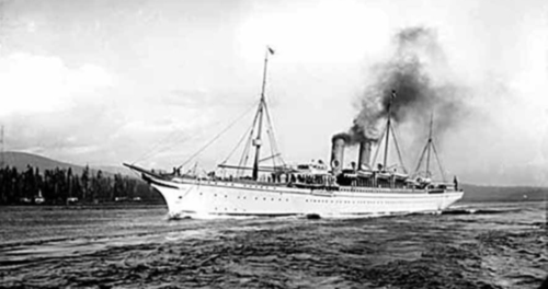 Empress of India in Vancouver Straits